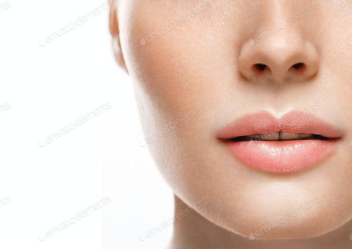 Lips Woman Mouth Beauty Natural Lipstick
