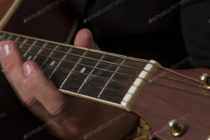Playing Guitar Hand