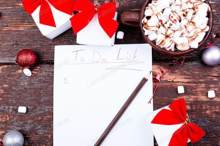 Weihnachts To Do Liste.