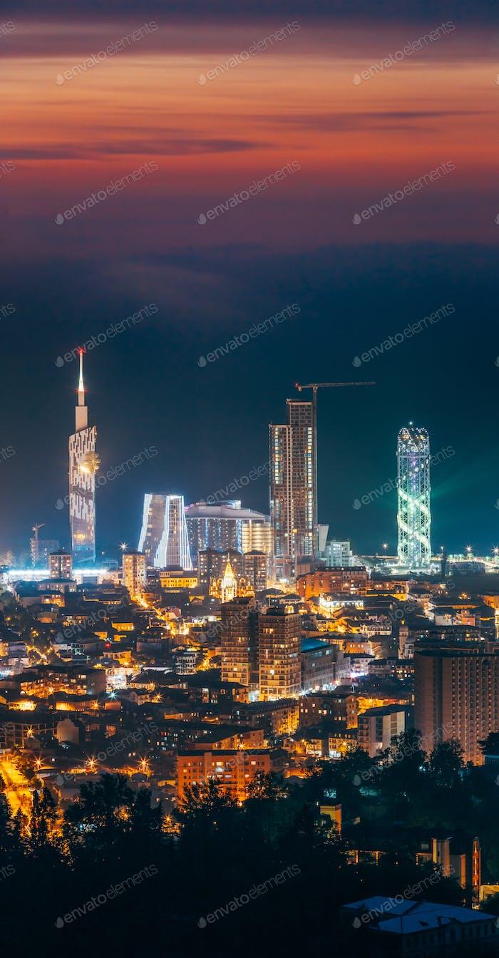 Batumi, Adjara, Georgia. Panorama, Aerial View Of Urban Cityscap