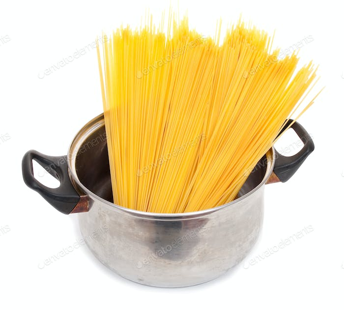 Cook the spagetti in the pan