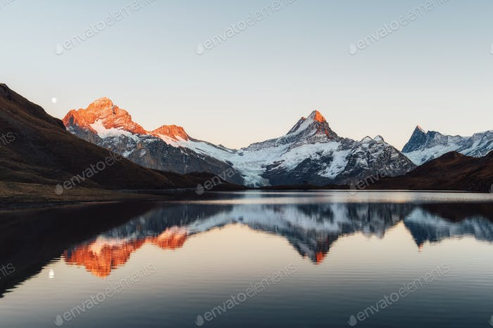 Bachalpsee lake in Swiss Alps