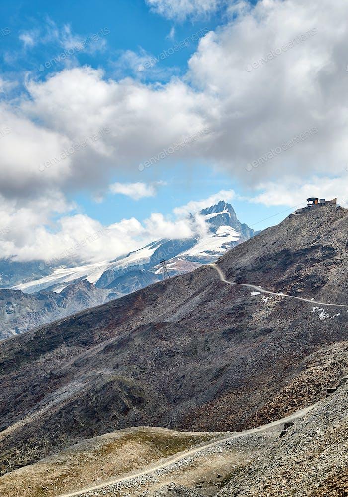 Landscape of beautiful mountains, swiss Alps