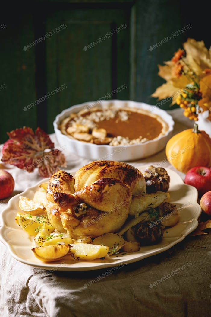 Baked chicken with potatoes