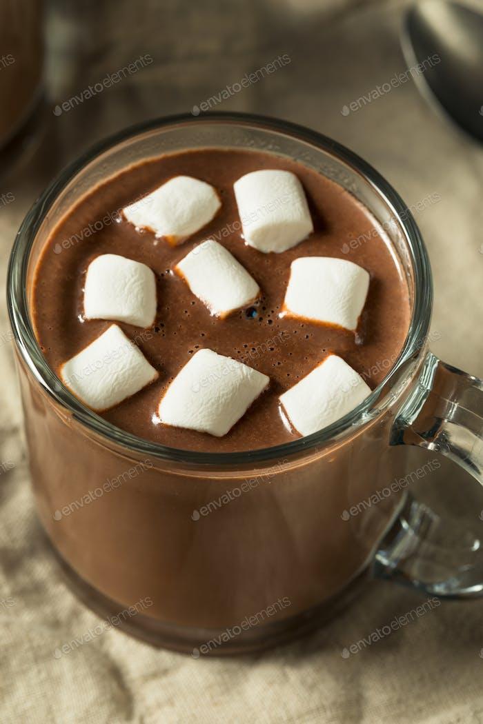 Süße hausgemachte Schokolade Heißer Kakao