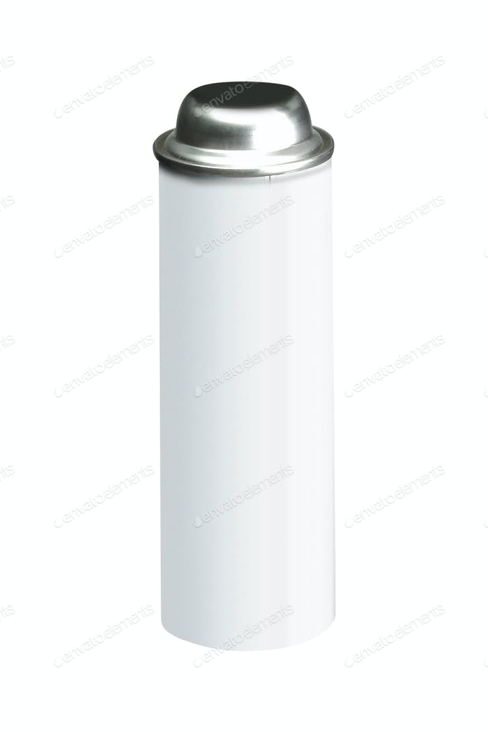 Spray bottle on white background