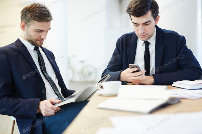 Rest of businessmen