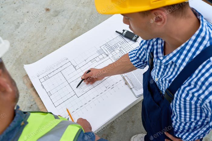 Working Meeting at Construction Site
