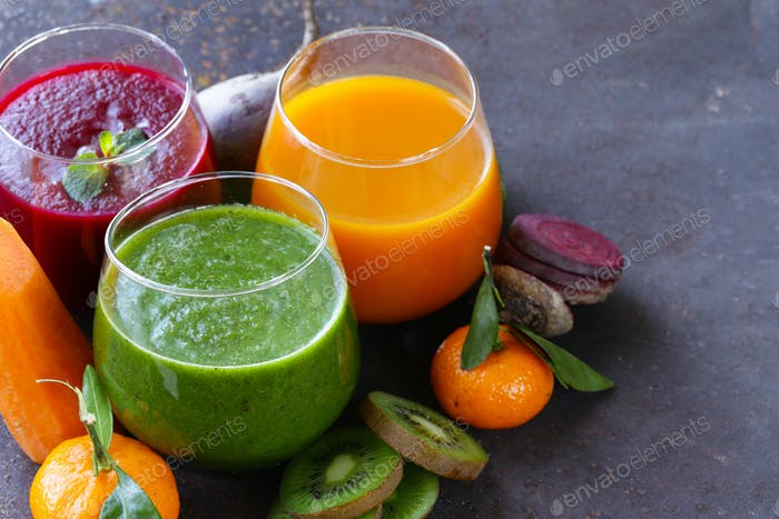 Assorted Fresh Juices From Fruits