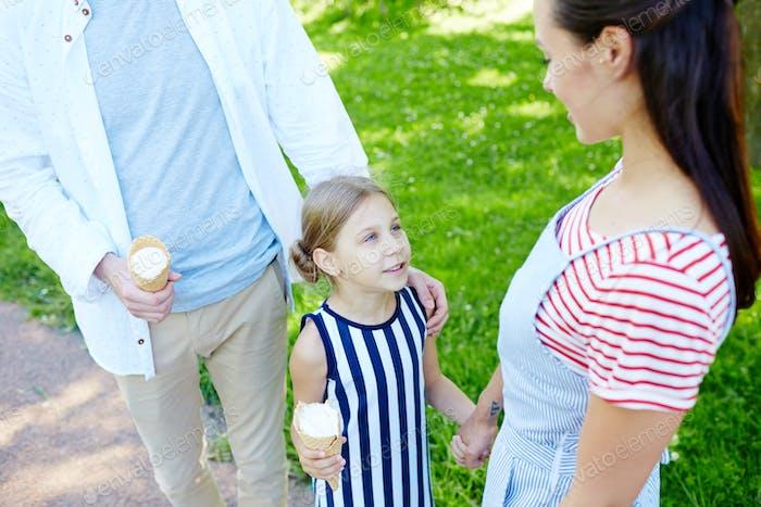 Walk with icecream