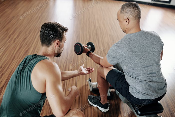 Doing exercise for forearms