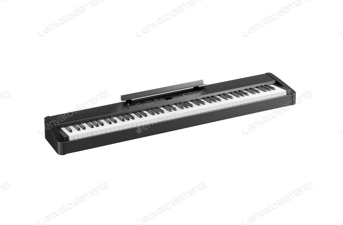 Synthesizer isolated on white background