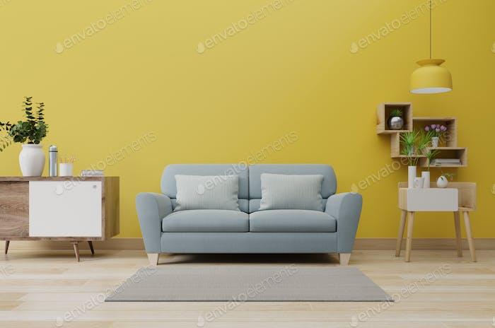 Moderna sala de estar interior.