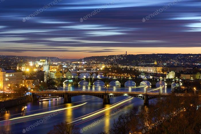 River traffic at Prague