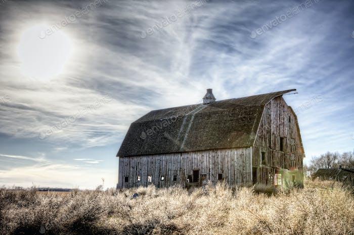 abandoned barn hdr