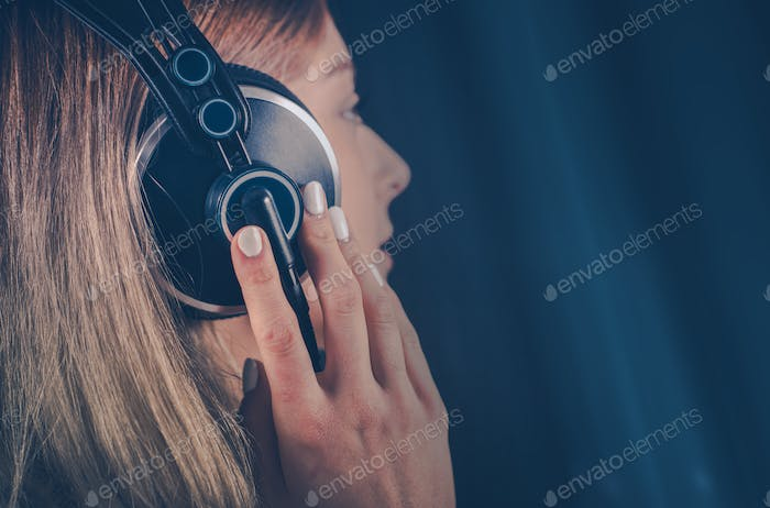 Girl Listening the Music
