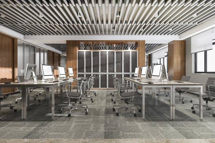 3d рендеринг бизнес-конференц-зал на офисном здании