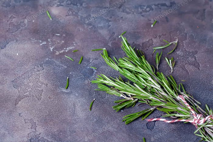 bunch of fresh green rosemary