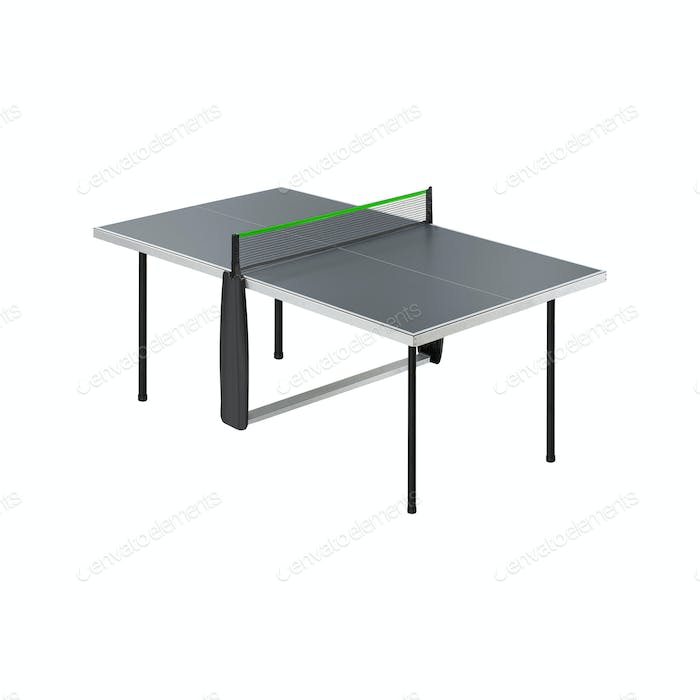 Ping-pong table isolated on white