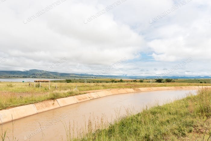Tugela-Vaal Water Scheme canal at the Woodstock Dam