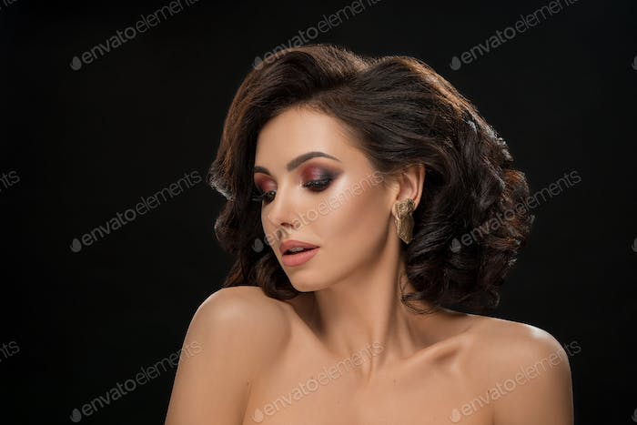 Stylish, attractive model with perfect make up