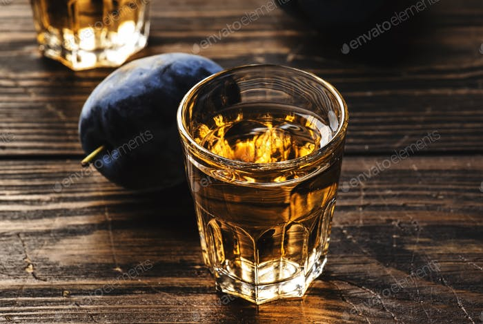 Slivovica - plum brandy or plum vodka, Balkan hard liquor