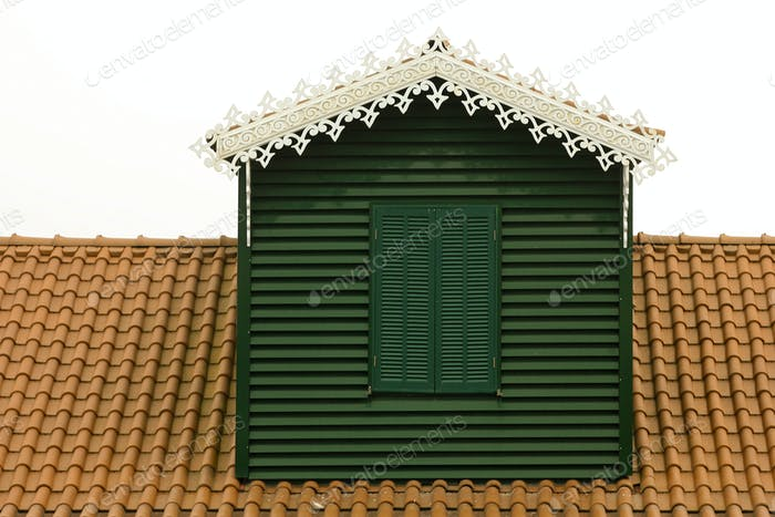 green window in rooftop