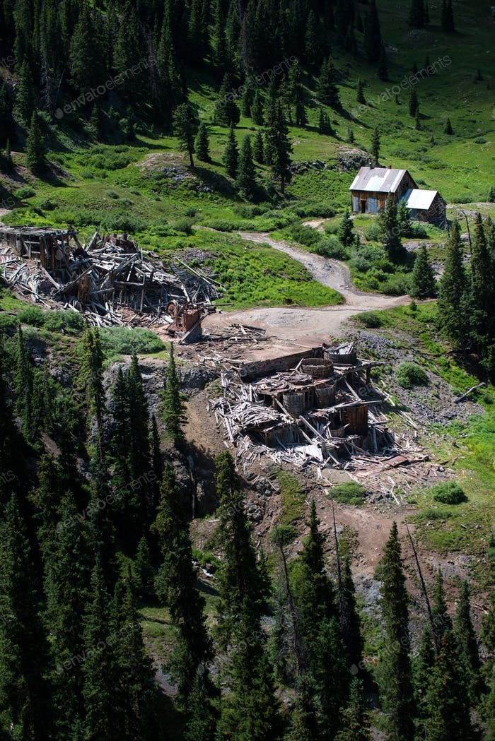 Mine Ruins Alpine Loop Colorado