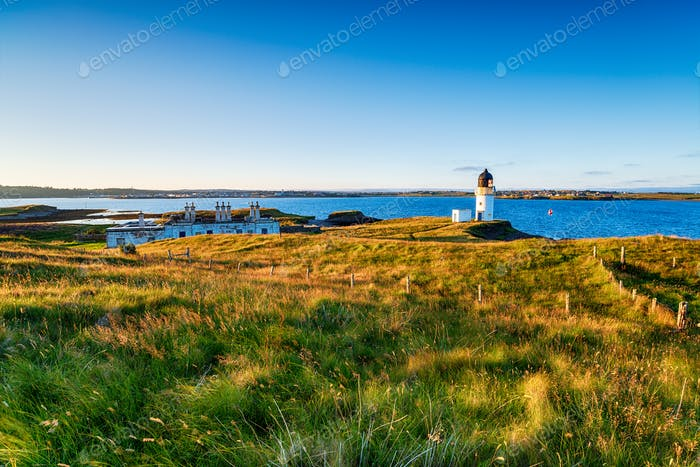 Summer evening at the lighthouse at Arnish Point