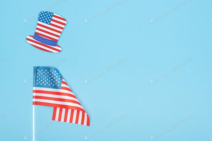 Paper Cut Decorative Hat Made of American Flag