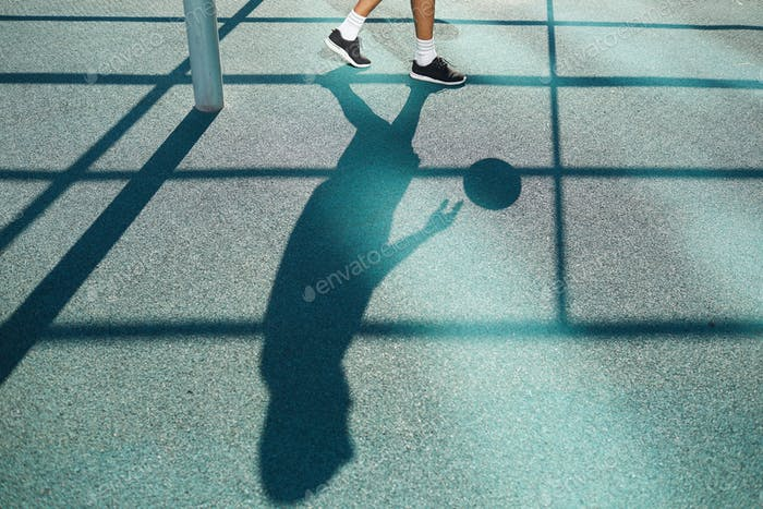 Shadow of Basketball Player Background