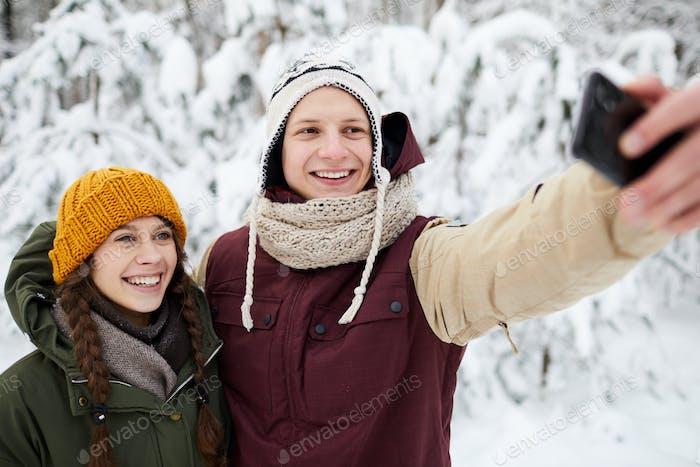 Selfie in Winter Park