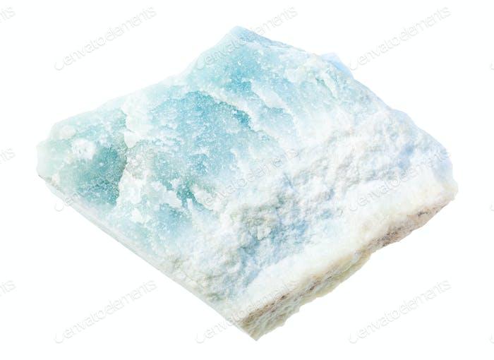 unpolished Violane rock isolated on white