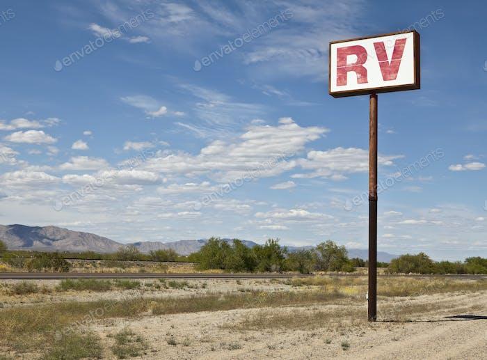 RV Parking in the Desert
