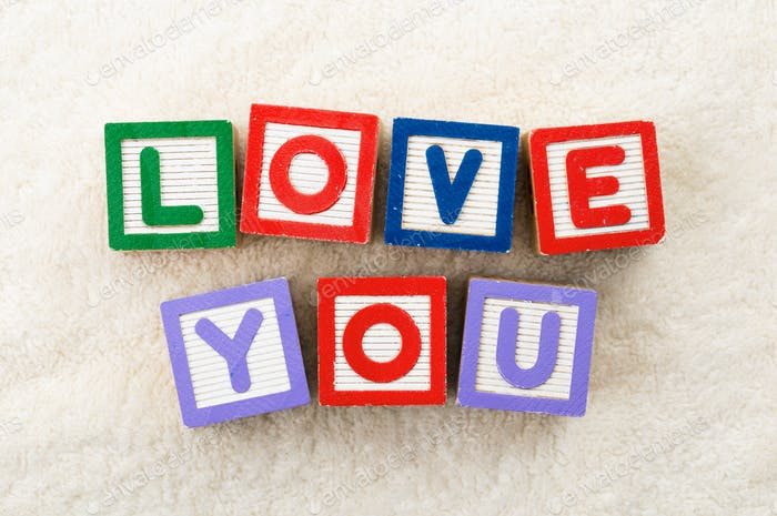 Love you bloque de juguete