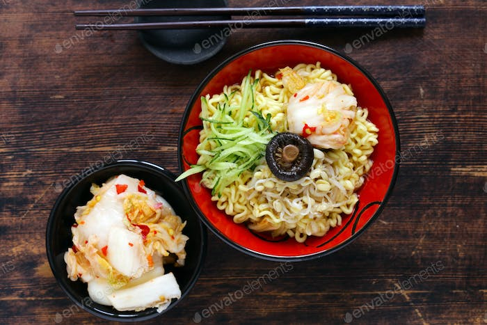 Asian Food Spicy Ramen Noodles