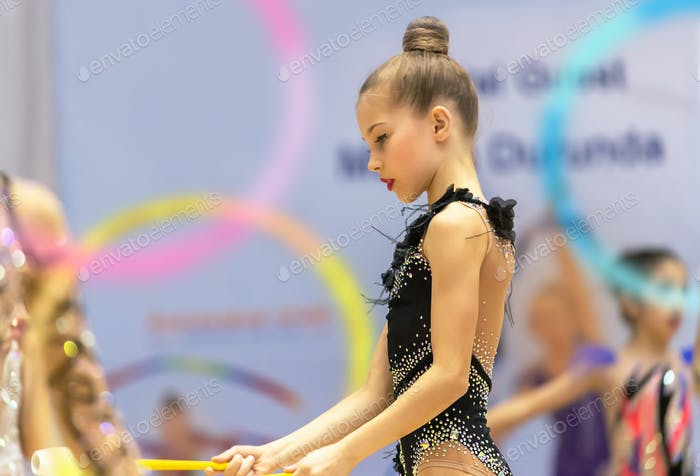 Beautiful little gymnast