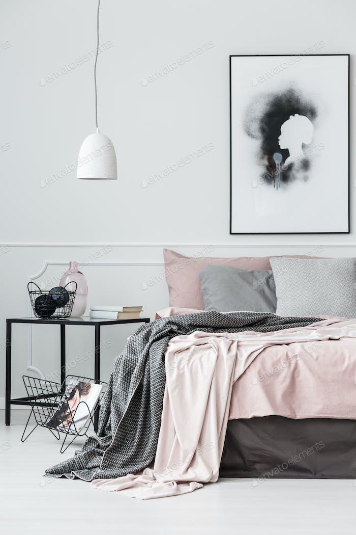 Cartel en el interior del dormitorio Brillante