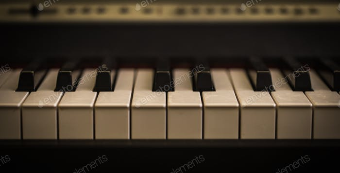 musical instrument, piano keys closeup