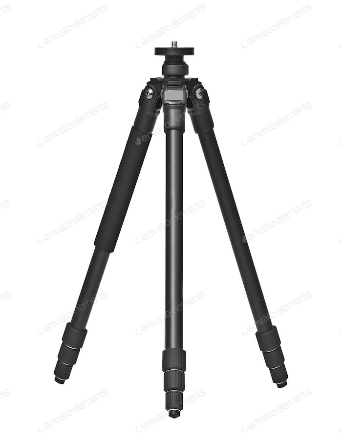 photo tripod isolated on white background.