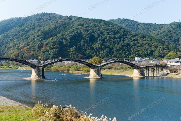 Wooden Arch bridge in Japan