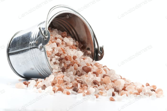 Spilled Salt on White