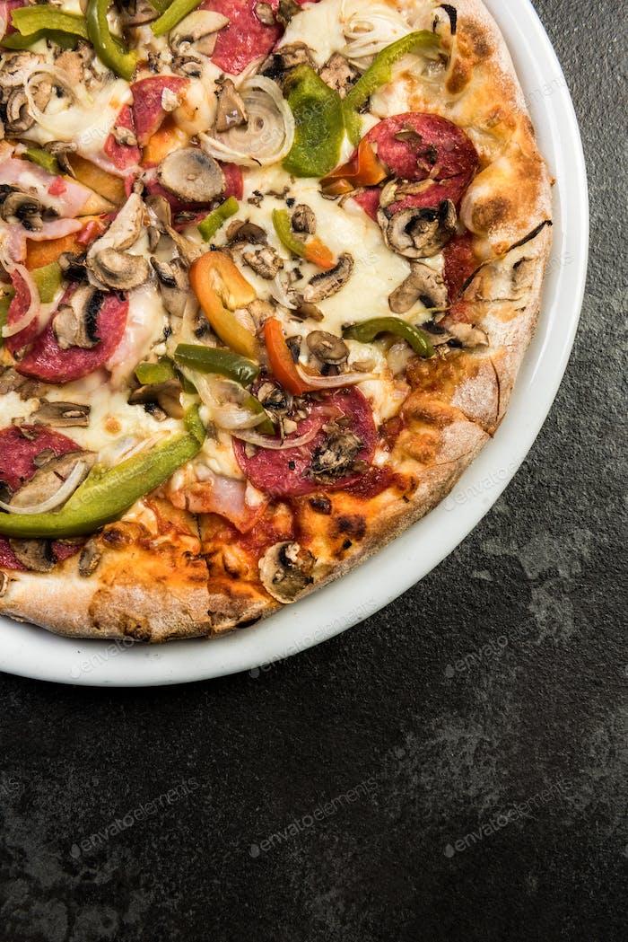 Fresh italian pizza, restaurant menu template