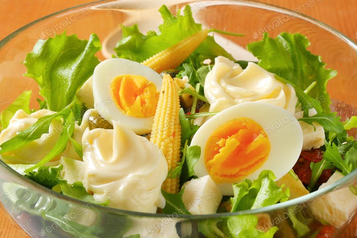 Schüssel gemischten Salat