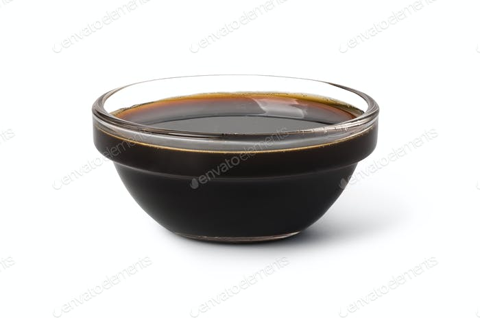 Bowl with soy sauce