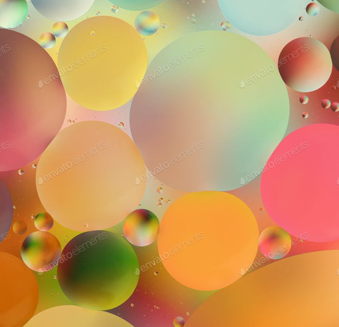 colorful oil drops on water