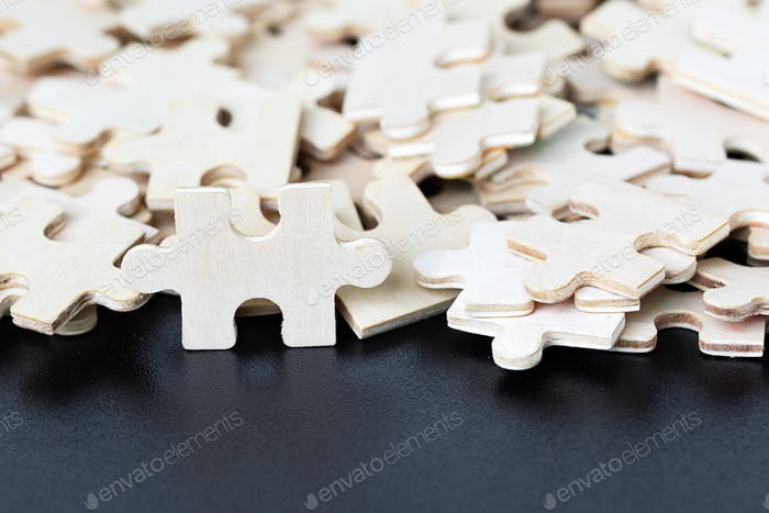Top view of Jigsaw puzzle pieces-4