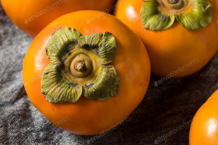 Raw Organic Orange Persimmons