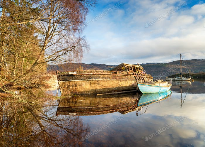 Old Boats on Loch Ness