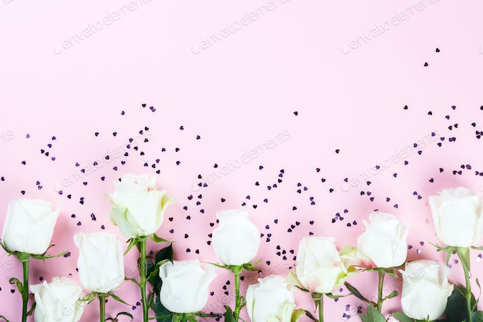 Flowers composition. Holiday Gift Valentin Day